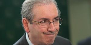 O presidente da Câmara dos Deputados, Eduardo Cunha, durante entrevista coletiva, fala sobre regra para aposentadoria (Marcelo Camargo/Agência Brasil)